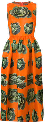 Dolce & Gabbana cabbage print sleeveless dress