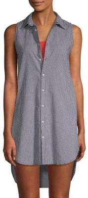 Onia Kaylee Cotton High-Low Cover-Up Shirtdress