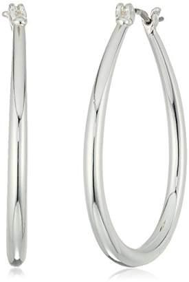 Chaps Women's Oval Tubular Clickit Hoop Earrings