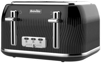 Breville VTT890 Flow 4 Slice Toaster - Black