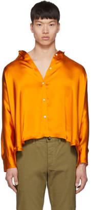 Loewe Orange Crinkle Satin Shirt