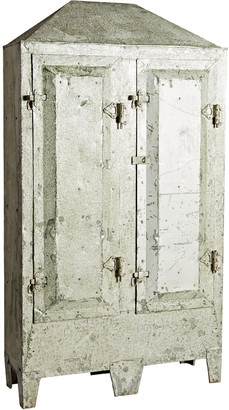 Rejuvenation Large Rustic Riveted Steel Industrial Cabinet from Chicago