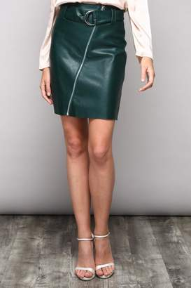 Do & Be Vegan Leather Skirt