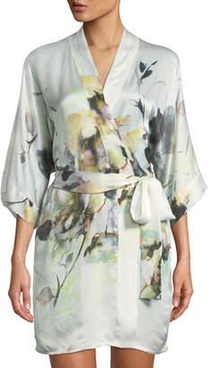 Christine Designs Limelight Short Silk Robe