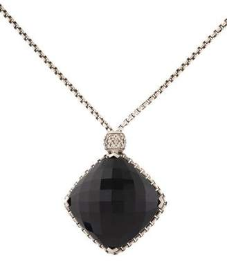 David Yurman Onyx & Diamond-Accented Cushion on Point Pendant Necklace