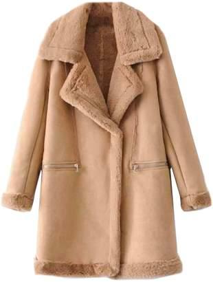 Goodnight Macaroon 'Sunny' Faux Shearling Long Coat (3 Colors)