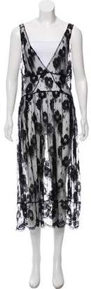 Fleur Du Mal Sleeveless Midi Dress