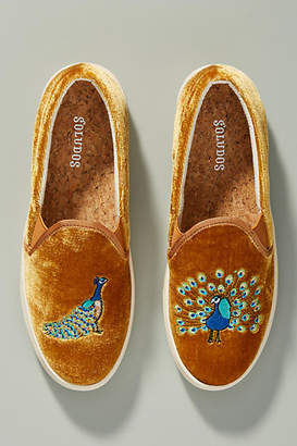 Soludos Embroidered Peacock Sneakers
