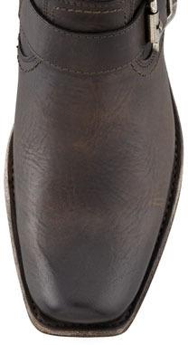 Frye Smith Short Engineer Boot, Charcoal