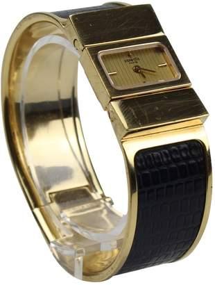 Hermes Vintage Loquet Gold Steel Watches