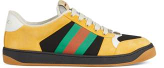 Gucci Men's Screener suede sneaker