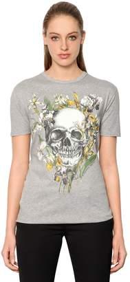 Alexander McQueen Wild Iris & Skull Cotton Jersey T-Shirt