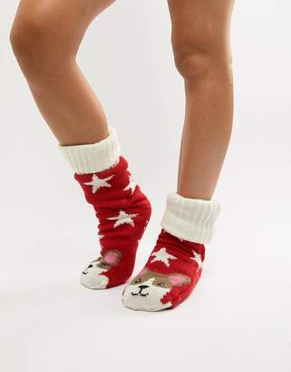Corgi Sock Shop Fleece Lined Slipper Sock