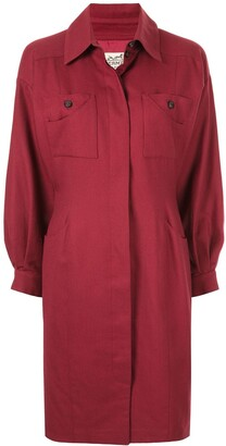 Hermes Pre-Owned slim waist knee-length coat
