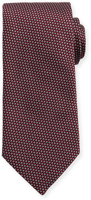 Eton Woven Two-Tone Textured Neat Silk Tie, Burgundy/Navy $145 thestylecure.com