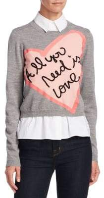 Alice + Olivia x Beatles Nikia All You Need Is Love Pullover