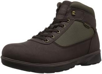 Lugz Men's Zeolite Mid Fashion Boot, Dark Brown/Olive drab Black/Thyme Green, 11.5 D US
