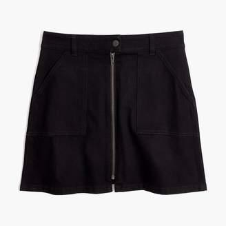 Madewell Denim Utility Zip Skirt in Black Frost