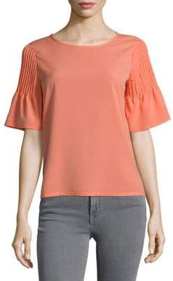 French Connection Pleated Bell-Sleeve Shirt