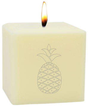"Carved Solutions 3"" Eco-Luxury Pineapple Soy Candle"