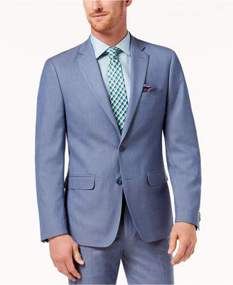 Sean John Men's Slim-Fit Stretch Light Blue Suit Jacket