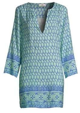 Vineyard Vines Linen-Blend Shell Print Tunic
