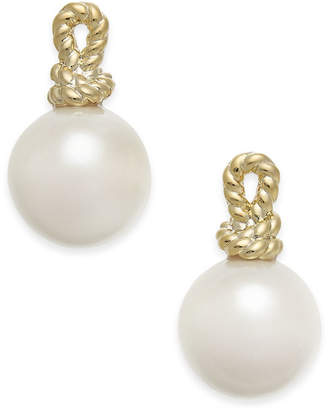 Kate Spade Gold-Tone Knot & Imitation Pearl Stud Earrings