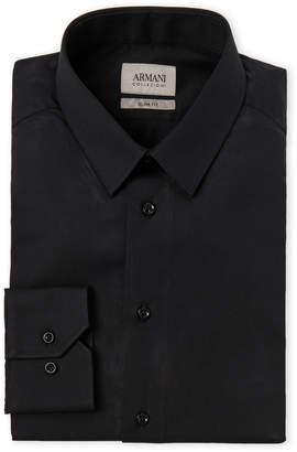 Armani Collezioni Black Slim Fit Dress Shirt