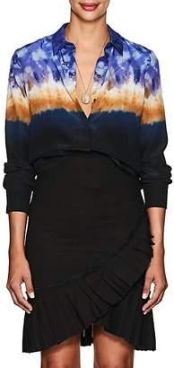Altuzarra Women's Chika Tie-Dyed Silk Blouse - 939 Ceramic Blue