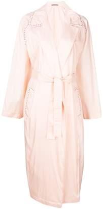 Bottega Veneta eyelet studded trench coat