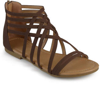 Journee Collection Womens Hanni Criss Cross Strap Gladiator Sandals