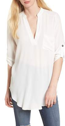 --- Perfect Roll Tab Sleeve Tunic