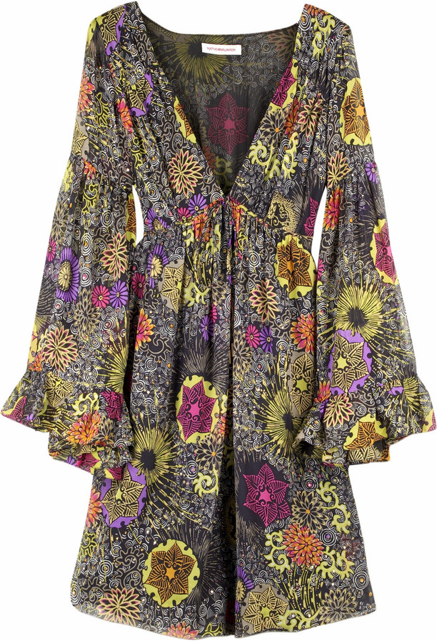 Matthew Williamson Flower motif mini dress