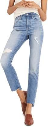 Madewell The High Waist Step Hem Slim Boy Jeans