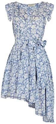 LoveShackFancy Gabby Asymmetric Cotton-blend Dress