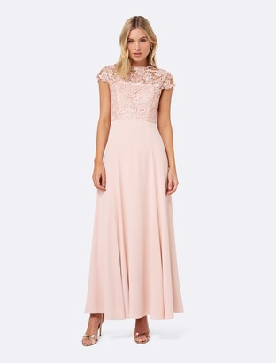Forever New Shanae Lace Top Maxi Dress - Nude - 4