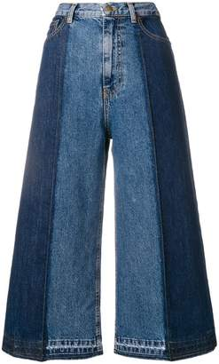 McQ wide-leg cropped jeans