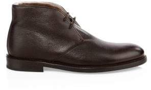 To Boot Fritz Shearling& Leather Lace-Up Chukka Boots