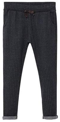 MANGO Textured jogging trousers