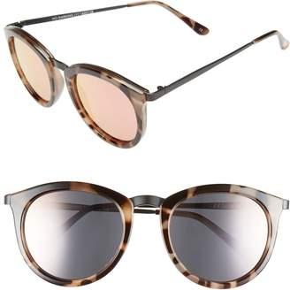 Le Specs 'No Smirking' 50mm Round Sunglasses
