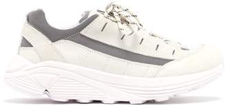 Ganni Iris Chunky Sole Leather Trainers - Womens - White