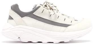 Ganni Iris Chunky Sole Leather Trainers - Womens - White