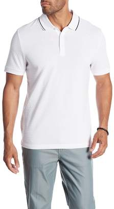 Perry Ellis Short Sleeve Jacquard Polo
