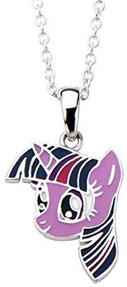 """My Little Pony Hasbro Jewelry Twilight Sparkle Women's 925 Sterling with 16"""" Chain Pendant Necklace"""