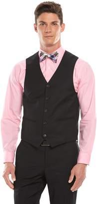 Savile Row Men's Modern-Fit Black Suit Vest