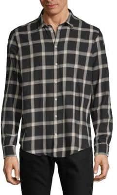 MSGM Gingham Cotton Button-Down Shirt