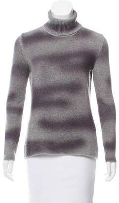 Lucien Pellat-Finet Abstract Ombré Wool Turtleneck