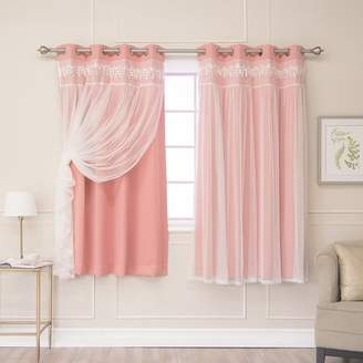 August Grove Muier Solid Blackout Thermal Grommet Curtain Panels