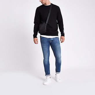 River Island Mens Mid Blue skinny fit jeans