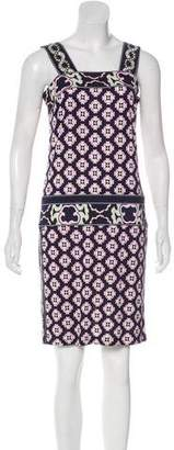 Diane von Furstenberg James Silk Abstract Print Mini Dress